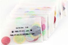Confetti Business Cards...