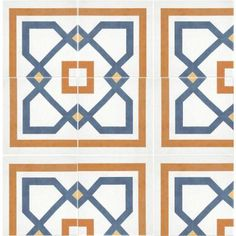 Merola Tile Revival Corner in. Ceramic Floor and Wall Tile - this will be the new bathroom floor. Ceramic version of cement encaustic - very affordable! click the image or link for more info. Modern Flooring, Kitchen Flooring, Flooring Ideas, Ceramic Flooring, Cement Tiles, Shower Floor, Tile Floor, Spanish Tile, Fireplace Surrounds