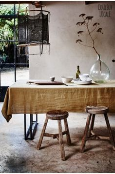 Styling: Cleo Scheulderman Photo: Jeroen van der Spek Linge Particulier - Table Linen - different colours