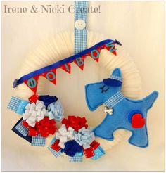 Felt Wreath, 4th Of July Wreath, Hanukkah, Wreaths, Crafts, Design, Decor, Manualidades, Decoration