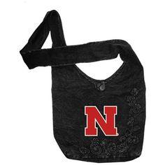 Nebraska Cornhuskers Ladies Black Groovy Over-The-Shoulder Bag