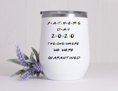 Father's Day Theme Tumbler*Dad Gift*The One Where We Were Quarantined*Gift For Fathers Day*Travel Mug*Social Distance Gift* Nurse Mugs, Nurse Gifts, Best Friend Gifts, Gifts For Friends, Pregnancy Announcement Gifts, Distance Gifts, Friend Mugs, Dad Mug, Friendship Gifts