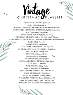 Christmas Spotify playlist - Vintage Christmas music spotify playlist -Vintage Christmas Spotify playlist - Vintage Christmas music spotify playlist - A cozy Christmas playlist to get you in the spirit of the holidays! More Christmas playli. Christmas Mood, Merry Little Christmas, Noel Christmas, Holiday Fun, Christmas Classics, Christmas List Ideas, Vintage Christmas Party, Christmas Parties, Christmas Crafts