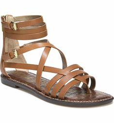 Ganesa Strappy Sandal. Main Image - Sam Edelman Ganesa Strappy Sandal (Women).  Sam Edelman Georgette Multi Cross Strap Flat Thong suede sangria ...