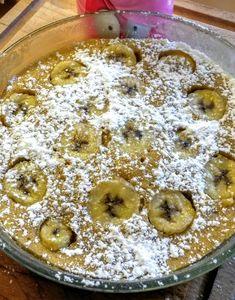 Gâteau à la banane microondes - un brin de......tulipe_isa Four Micro Onde, Pie, Pudding, Fruit, Food, Photos, Microwaves, Oven Cooking, Food Porn