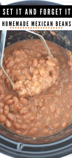 Slow cooker mexican beans refried beans are the best way to compliment a mexican meal or taco tuesday with a true set it and forget authentic side dish refried beans slowcooker mexican slow cooker creamy italian chicken Authentic Mexican Recipes, Mexican Food Recipes, Authentic Mexican Refried Beans Recipe, Authentic Food, Mexican Meals, Mexican Cooking, Slow Cooker Beans, Slow Cooker Recipes, Cooking Recipes