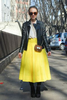 lemon yellow outfit
