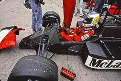 "Keijo Erik ""Keke"" Rosberg (FIN) (Marlboro McLaren International), McLaren - TAG-Porsche TTE (t/c) Rosberg finished the 1986 championship with a total of 22 points. 1986 © McLaren Racing Ltd. Porsche, Gp F1, Course Automobile, Karts, Gilles Villeneuve, Formula 1 Car, Mclaren Mp4, F1 Racing, Car And Driver"