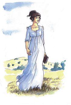 Elizabeth Bennet! I really like this depiction of her.