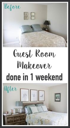 Wow! This blog is full of awesome DIY home decor ideas, like this quick and easy guest room makeover that was completed in one weekend! Full details at Designer Trapped in a Lawyer's Body.