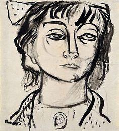 Imre Amos (Jewish-Hungarian:1907-1944)  -  The portrait of Margit Anna - by Virag Judit Gallery