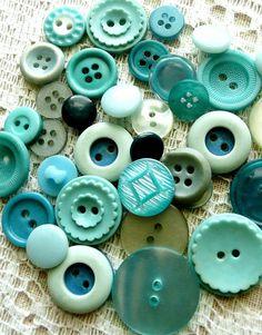 Vintage Aqua Buttons