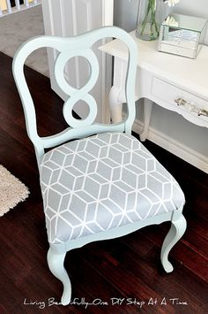 DIY Furniture: Reupholstered & Painted Chair Tutorial