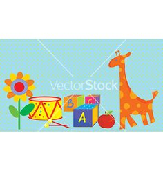 Baby background with toys vector by tasia12 on VectorStock®