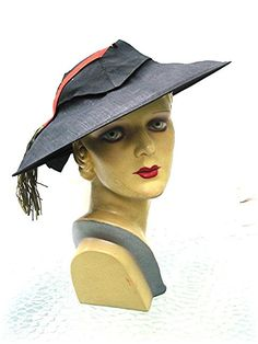 1930s Wide Brim Hat, Paris