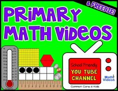 Another pinner: Math videos organized by grade level for elementary students - FREE membership. Set this up as a math station or use as whole group. Math Work, Fun Math, Math Resources, Math Activities, Math Games, Teaching Reading, Teaching Math, Teaching Ideas, Math Songs