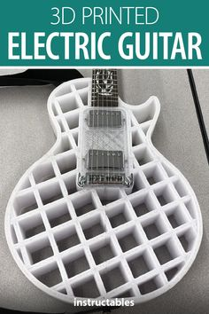 Build an electric guitar with a printed body. Quick Grip Clamps, Cad Programs, 3d Printed Objects, 3d Printer Designs, I Messed Up, Engineering Projects, Cool Inventions, Woodwork, Guitars