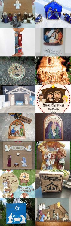 Unique Nativities by Evelyn Mayfield on Etsy--Pinned with TreasuryPin.com