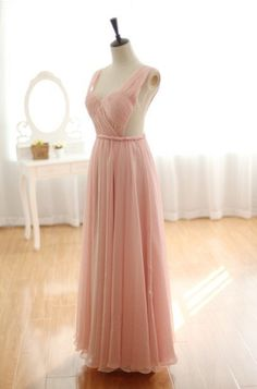 Blush+pink+chiffon+made+dress  I+am+sure+you+will+love+it+as+much+as+i+am  I+was+thrilled+to+see+this+dress+after+it+finished  Never+thought+it+would+turn+out+to+be+such+a+lovely+dress  Sheer/flowy+chiffon+made,+fully+lined+with+satin  Comes+with+boning+and+bra+cups  The+bodice+is+all...