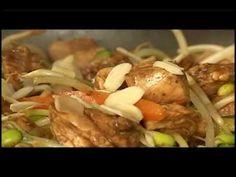 Salmón de Chile: refogado de salmao e amendoas