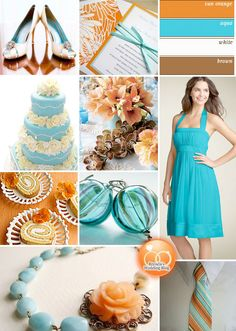 #Aqua #Blue and #Orange Weddings