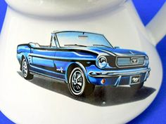 Mustang Car Coffee Mug Travel Blue Car Ceramic White Inside Out Handle Words Best Coffee Mugs, Glass Coffee Mugs, Coffee Type, Tea Mugs, Coffee Coffee, Blue Mustang, Mustang Cars, Travel French Press, Unique Gifts For Him