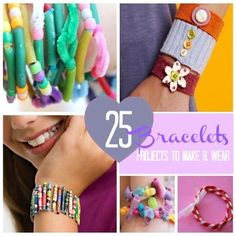 25 DIY Bracelet Projects for Girls to Make and Wear Includes a super cute bracelet made of all those random Barbie accessories!
