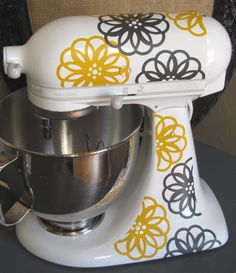 Kitchen Aid Vinyl DecalsSpirograph Flower by thewordnerdstudio
