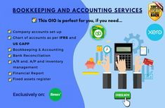 Need affordable outsourced and services for your small business? I will help you to keep track of your business through accurate and cost-effective bookkeeping services. Bookkeeping And Accounting, Bookkeeping Services, Accounting Services, Chart Of Accounts, Quickbooks Online, Inventory Management, Finance, Track, Business