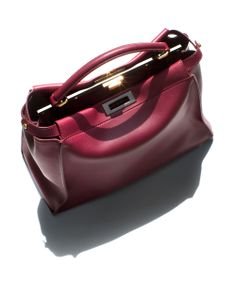 Fendi Peekaboo Large Leather Satchel / Garance Doré