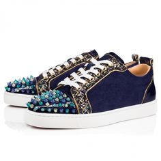 79c0915f0bb Christian Louboutin Sneaker Low Top Junior Blue Toes With Strass Spikes Men  Shoes. Black Christian Louboutin SneakersRed Bottoms ...
