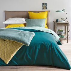 Cotton Sheets and Pillowcases Room Color Schemes, Room Colors, Home Bedroom, Bedroom Decor, Bedrooms, Bed Story, Bed Design, House Design, Quilts