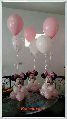 Minnie Mouse Balloons, Minnie Mouse Party Decorations, Minnie Mouse Theme Party, Minnie Mouse 1st Birthday, Minnie Mouse Baby Shower, Mickey Party, Balloon Decorations, Birthday Party Decorations, Minnie Mouse Party