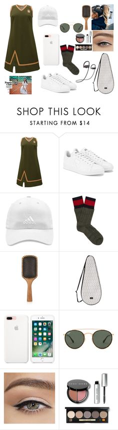"""Tennis"" by nicks-1 ❤ liked on Polyvore featuring Tomcsanyi, adidas, Gucci, Aveda, Dagmar, Ray-Ban, Bobbi Brown Cosmetics, tennis and NicolePorcelli"
