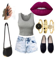 """""""Glam 1"""" by glowgetter on Polyvore featuring LE3NO, Lime Crime, Boohoo, Chanel and Alexander Wang"""