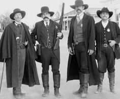 Original picture of Doc Holliday, Wyatt Earp and his brothers - History Westerns, Us History, American History, History Photos, Asian History, Strange History, Tudor History, British History, History Facts