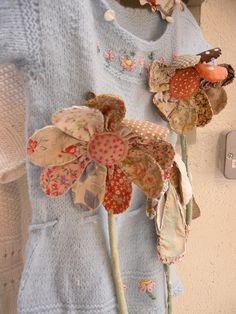 Julie Arkell flowers by ticking stripes, via Flickr