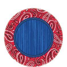 Bandana & Blue Jeans Dessert Plates 8ct