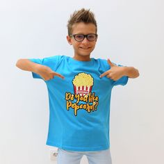 Ronald's Popcorn shirt for boys! Popcorn Shirts, Famous Youtubers, Youtube Stars, Jojo Siwa, Rap Wallpaper, Wallpaper Quotes, Bro, My Hero, Besties