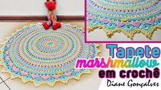 Vídeo Aula - Tapete Redondo em Crochê ~ Armarinho São José