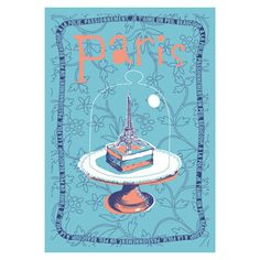 Eiffel Tower in Cake Dome Tea Towel by Torchons et Bouchons