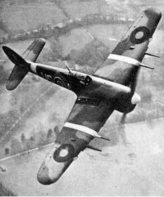 "Great Britain's Hawker Typhoon fighter , ""Tiffy"" Originally intended to be an opponent for the Fw 190, the Typhoon just wasn't as agile. It eventually became an incredible ground support aircraft."