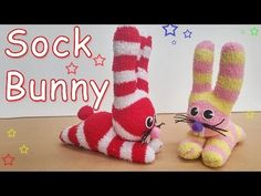 How to make a Sock Bunny :With an old sock that has lost its partner , make a bunny with this fun and easy tutorial ! Sock Crafts, Diy Crafts, Sewing For Kids, Diy For Kids, Sock Monkey Pattern, How To Make Socks, Sock Bunny, Sock Snowman, Sock Puppets