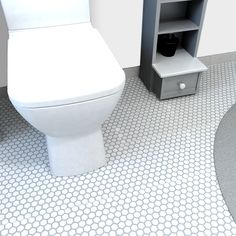 SomerTile 10.25x11.75-in Victorian Hex 1-in White Porcelain Mosaic Tile (Pack of 10) | Overstock.com Shopping - The Best Deals on Wall Tiles