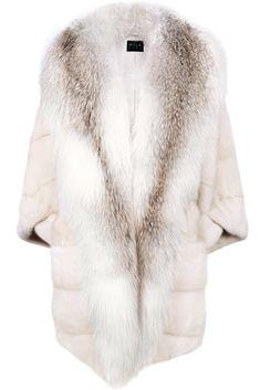 Marilyn fox & mink coat – CARA MILA Fox Coat, White Fur, Staple Pieces, Mink, Cashmere, Denim, Stylish, Sleeves, How To Wear