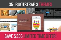 35+ Bootstrap 3 themes deal. Bootstrap Themes. $29.00