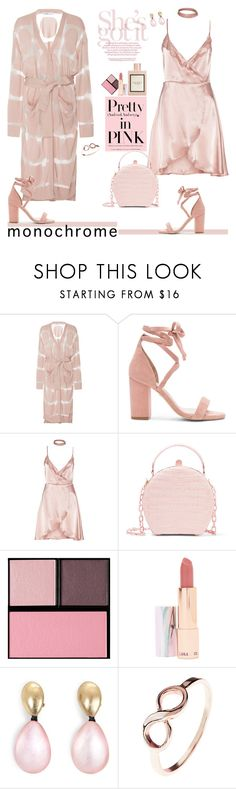 """Color Me Pretty: Monochrome Pink"" by ellie366 ❤ liked on Polyvore featuring PH5, Gucci, Raye, Nancy Gonzalez, Surratt, LAQA & Co., Monies, neutrals, cardigans and slipdress"