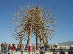 Burning Man again - awesome bamboo structure. Note - a festival struture needs to be solid enough to be climbable!! (Source: ErzenDesign on Flickr)