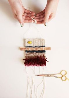 Try your hand at a custom weaving. #DIY