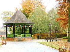 The Band Stand, Caldecott, Park, Rugby Brass Band, Rugby, Gazebo, Outdoor Structures, Park, Image, Kiosk, Parks, Football